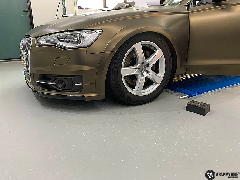 Audi A6 All-road Matte Bond Gold, Carwrapping door Wrapmyride.nu Foto-nr:13416, ©2020