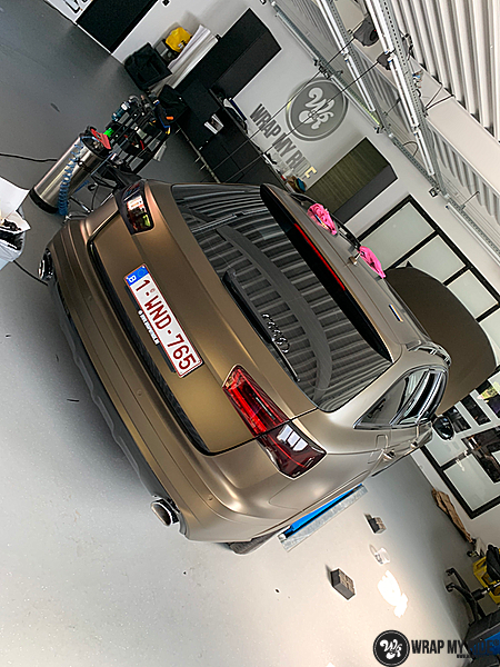 Audi A6 All-road Matte Bond Gold, Carwrapping door Wrapmyride.nu Foto-nr:13415, ©2021