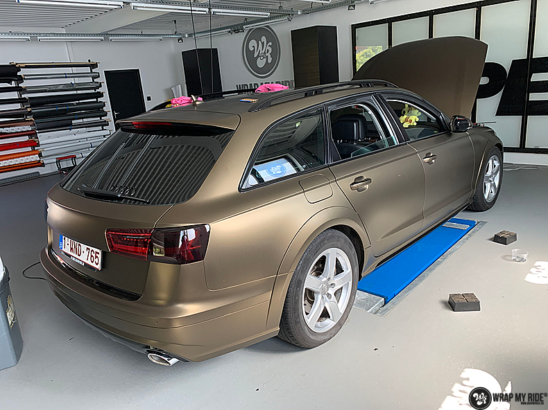 Audi A6 All-road Matte Bond Gold, Carwrapping door Wrapmyride.nu Foto-nr:13414, ©2020
