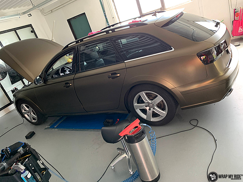 Audi A6 All-road Matte Bond Gold, Carwrapping door Wrapmyride.nu Foto-nr:13413, ©2021