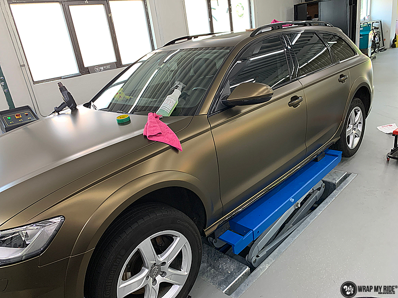 Audi A6 All-road Matte Bond Gold, Carwrapping door Wrapmyride.nu Foto-nr:13410, ©2021