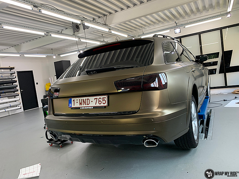 Audi A6 All-road Matte Bond Gold, Carwrapping door Wrapmyride.nu Foto-nr:13409, ©2020