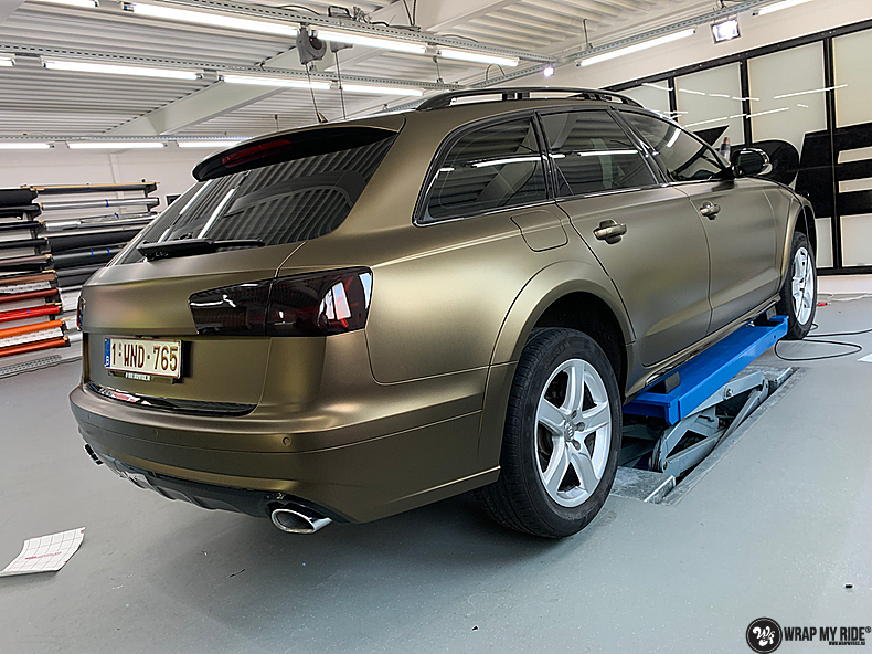 Audi A6 All-road Matte Bond Gold, Carwrapping door Wrapmyride.nu Foto-nr:13408, ©2021