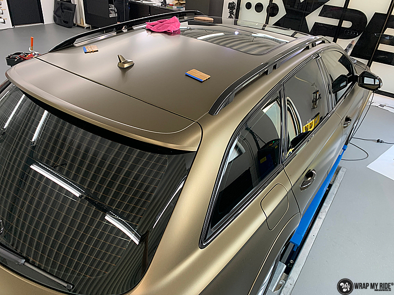 Audi A6 All-road Matte Bond Gold, Carwrapping door Wrapmyride.nu Foto-nr:13407, ©2021