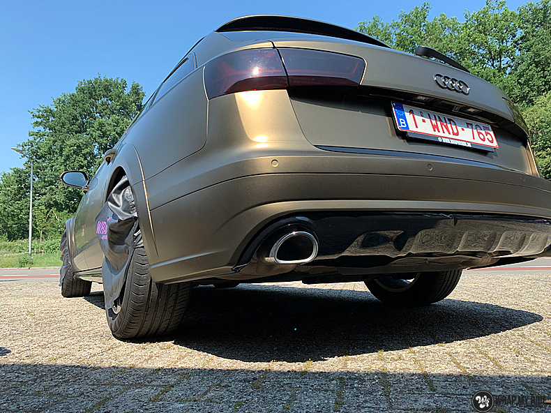 Audi A6 All-road Matte Bond Gold, Carwrapping door Wrapmyride.nu Foto-nr:13404, ©2020