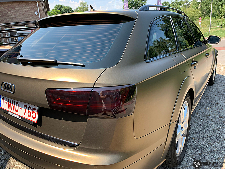 Audi A6 All-road Matte Bond Gold, Carwrapping door Wrapmyride.nu Foto-nr:13401, ©2021