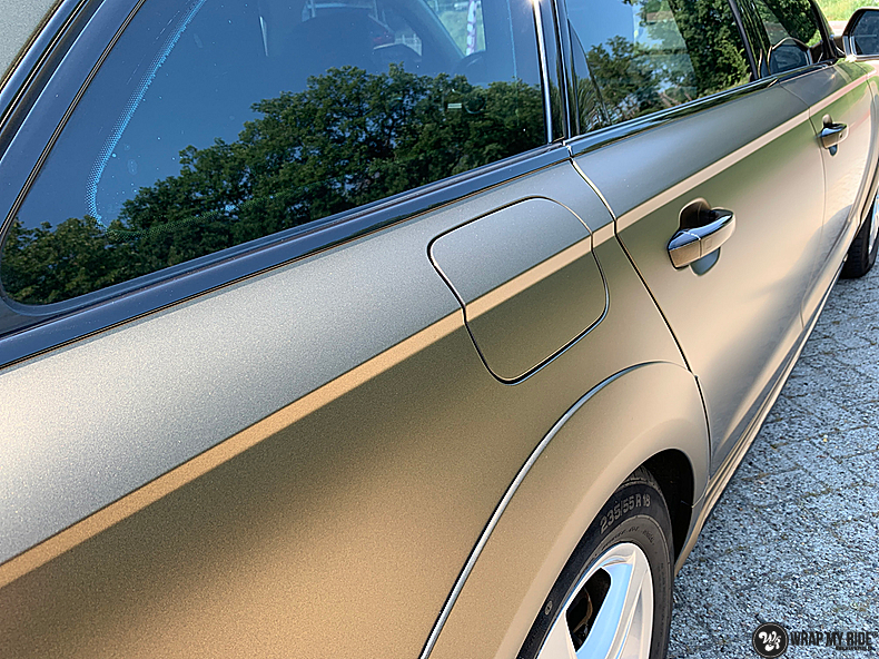 Audi A6 All-road Matte Bond Gold, Carwrapping door Wrapmyride.nu Foto-nr:13399, ©2021