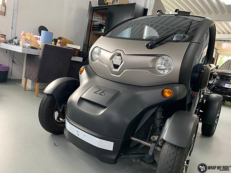 Renault Twizzy matte aluminium grey, Carwrapping door Wrapmyride.nu Foto-nr:13557, ©2021