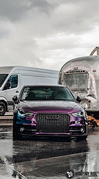 Audi A1 inozotec midnight purple, Carwrapping door Wrapmyride.nu Foto-nr:13744, ©2020