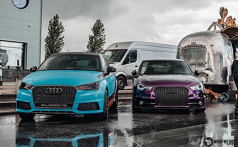 Audi A1 inozotec midnight purple, Carwrapping door Wrapmyride.nu Foto-nr:13745, ©2020