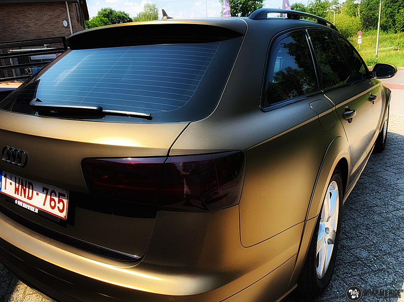 Audi A6 All-road Matte Bond Gold, Carwrapping door Wrapmyride.nu Foto-nr:13400, ©2021