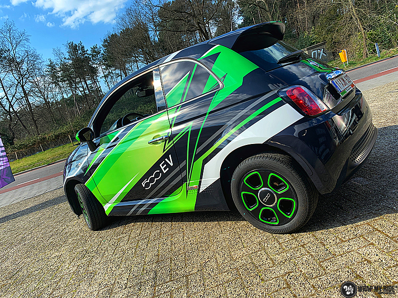 fiat 500 EV full colour wrap, Carwrapping door Wrapmyride.nu Foto-nr:13360, ©2021