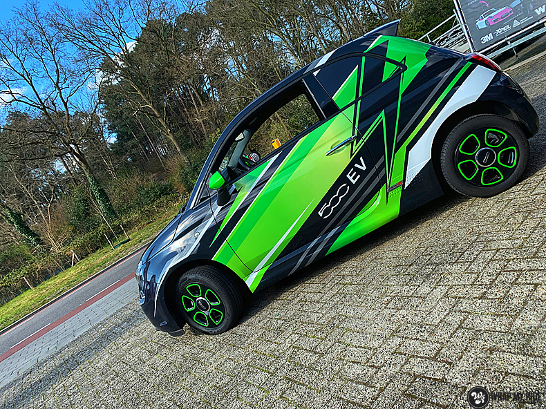 fiat 500 EV full colour wrap, Carwrapping door Wrapmyride.nu Foto-nr:13363, ©2021