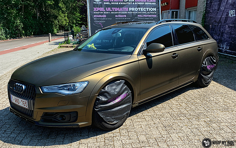 Audi A6 All-road Matte Bond Gold, Carwrapping door Wrapmyride.nu Foto-nr:13406, ©2021