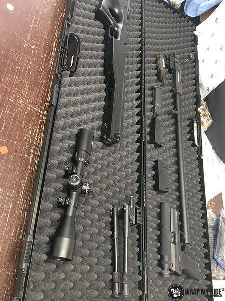 Airsoft Gun digital camo, Carwrapping door Wrapmyride.nu Foto-nr:11168, ©2020