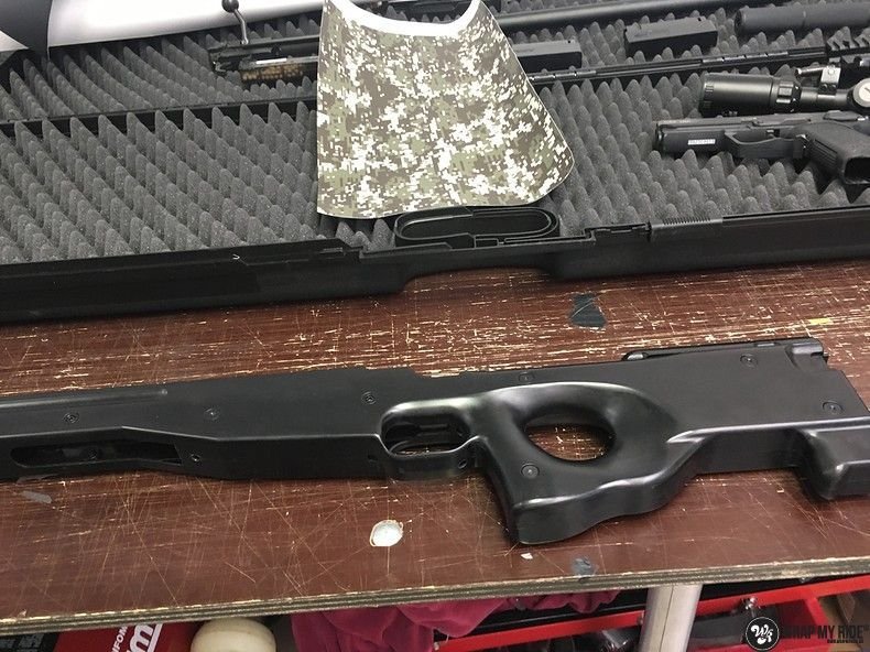 Airsoft Gun digital camo, Carwrapping door Wrapmyride.nu Foto-nr:11170, ©2019