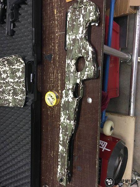 Airsoft Gun digital camo, Carwrapping door Wrapmyride.nu Foto-nr:11172, ©2019