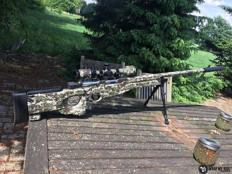 Airsoft Gun digital camo, Carwrapping door Wrapmyride.nu Foto-nr:11174, ©2020