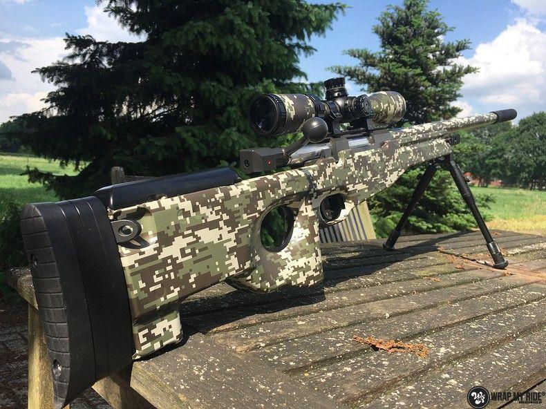 Airsoft Gun digital camo, Carwrapping door Wrapmyride.nu Foto-nr:11175, ©2020