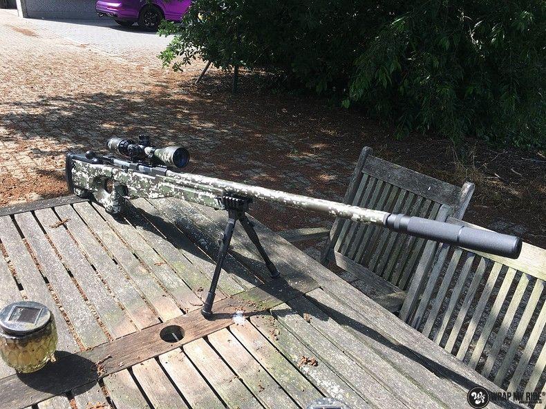 Airsoft Gun digital camo, Carwrapping door Wrapmyride.nu Foto-nr:11179, ©2020