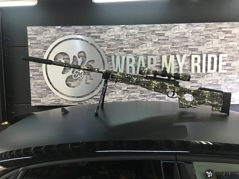 Airsoft Gun digital camo, Carwrapping door Wrapmyride.nu Foto-nr:11180, ©2019