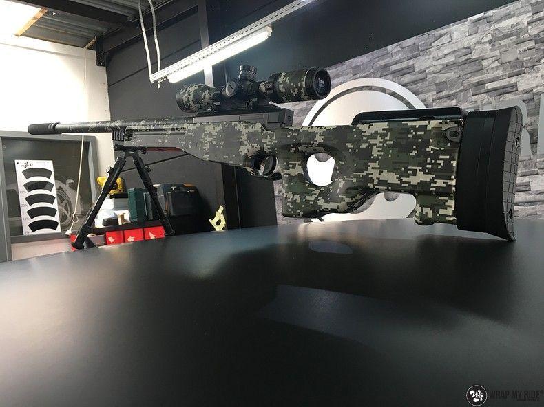 Airsoft Gun digital camo, Carwrapping door Wrapmyride.nu Foto-nr:11181, ©2019
