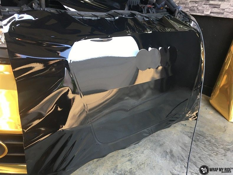 Audi A1 avery gold chrome, Carwrapping door Wrapmyride.nu Foto-nr:11165, ©2021