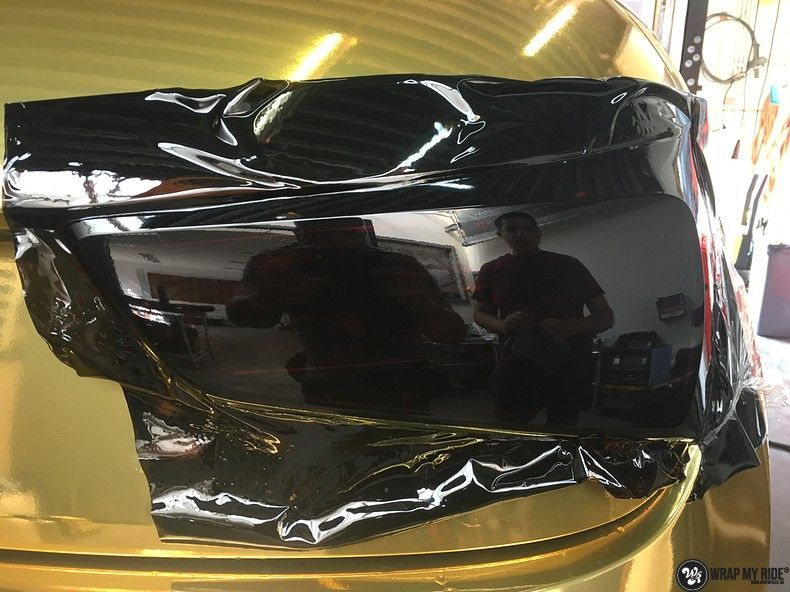 Audi A1 avery gold chrome, Carwrapping door Wrapmyride.nu Foto-nr:11159, ©2019