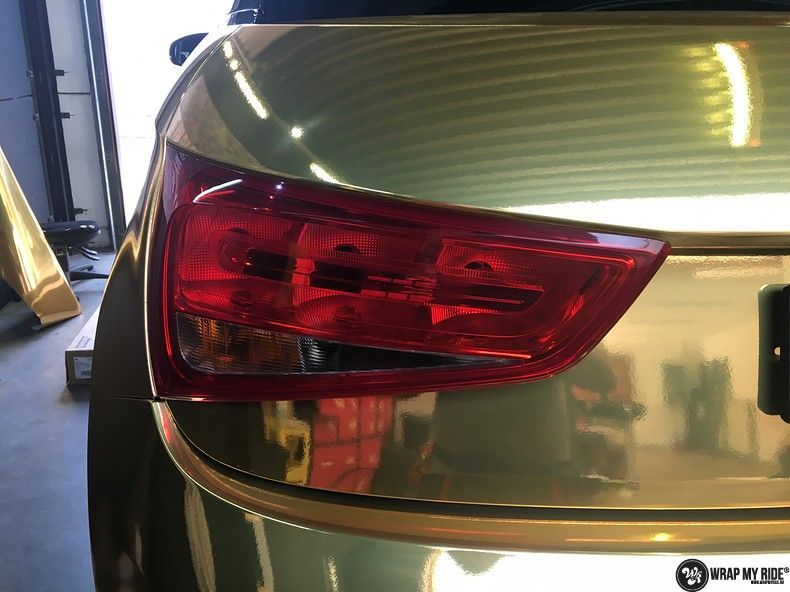 Audi A1 avery gold chrome, Carwrapping door Wrapmyride.nu Foto-nr:11160, ©2019
