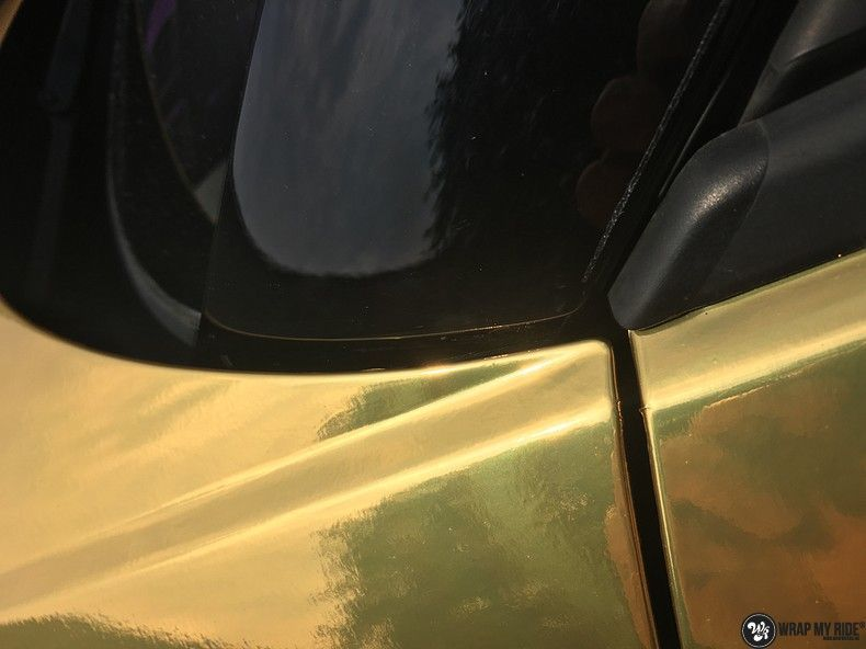 Audi A1 avery gold chrome, Carwrapping door Wrapmyride.nu Foto-nr:11157, ©2021