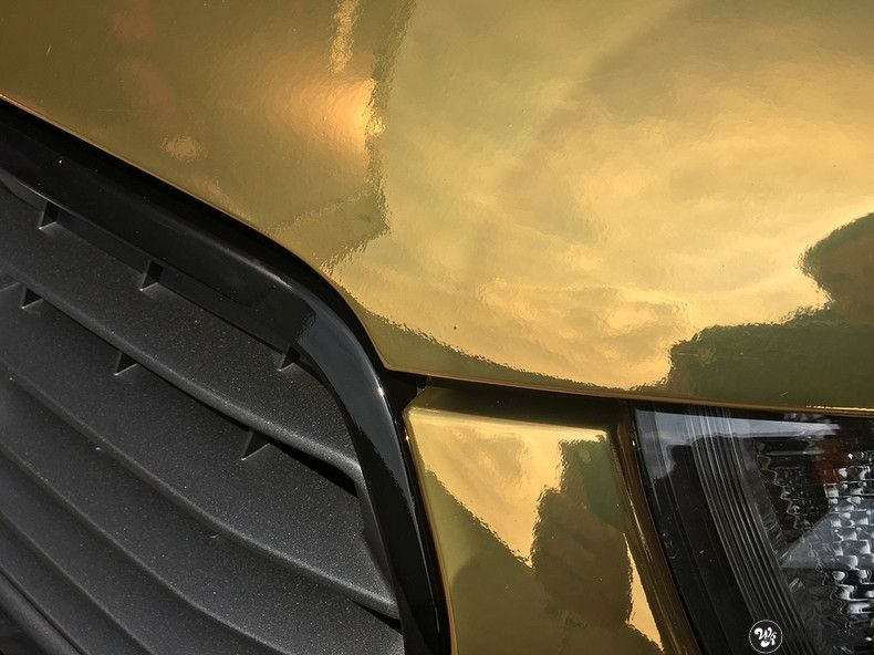 Audi A1 avery gold chrome, Carwrapping door Wrapmyride.nu Foto-nr:11158, ©2021