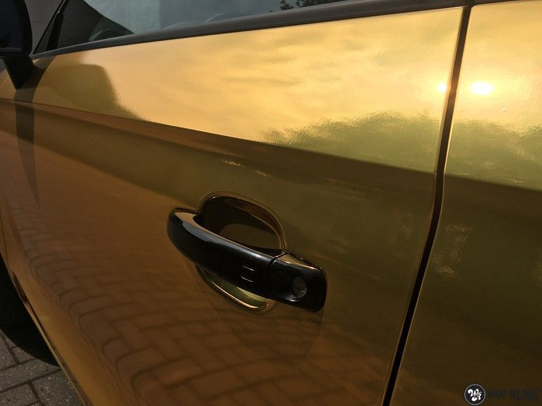 Audi A1 avery gold chrome, Carwrapping door Wrapmyride.nu Foto-nr:11144, ©2020