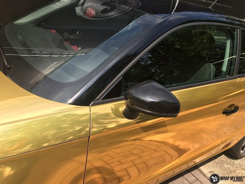 Audi A1 avery gold chrome, Carwrapping door Wrapmyride.nu Foto-nr:11145, ©2019