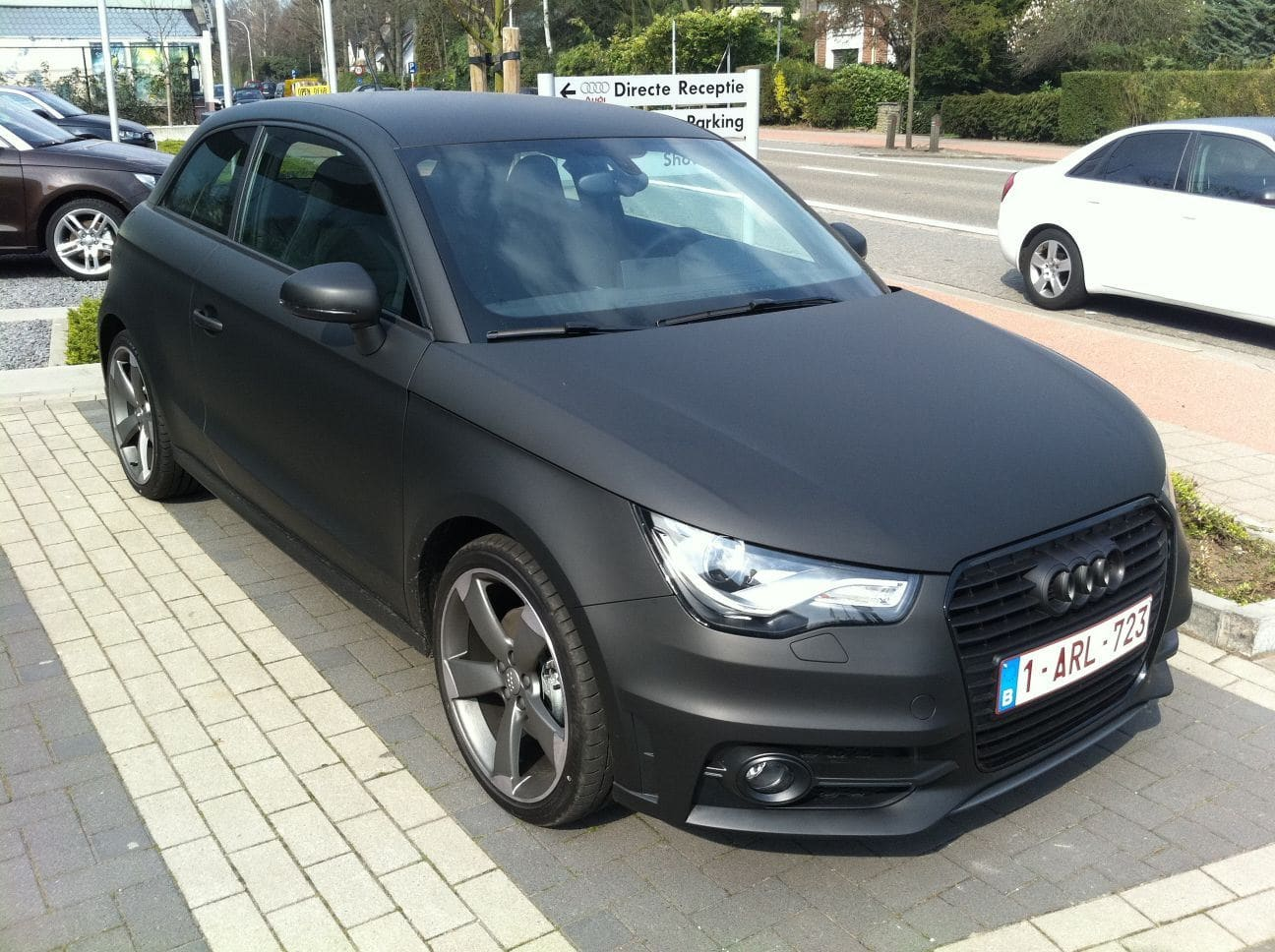 audi a1 met mat zwarte wrap wrap my ride. Black Bedroom Furniture Sets. Home Design Ideas