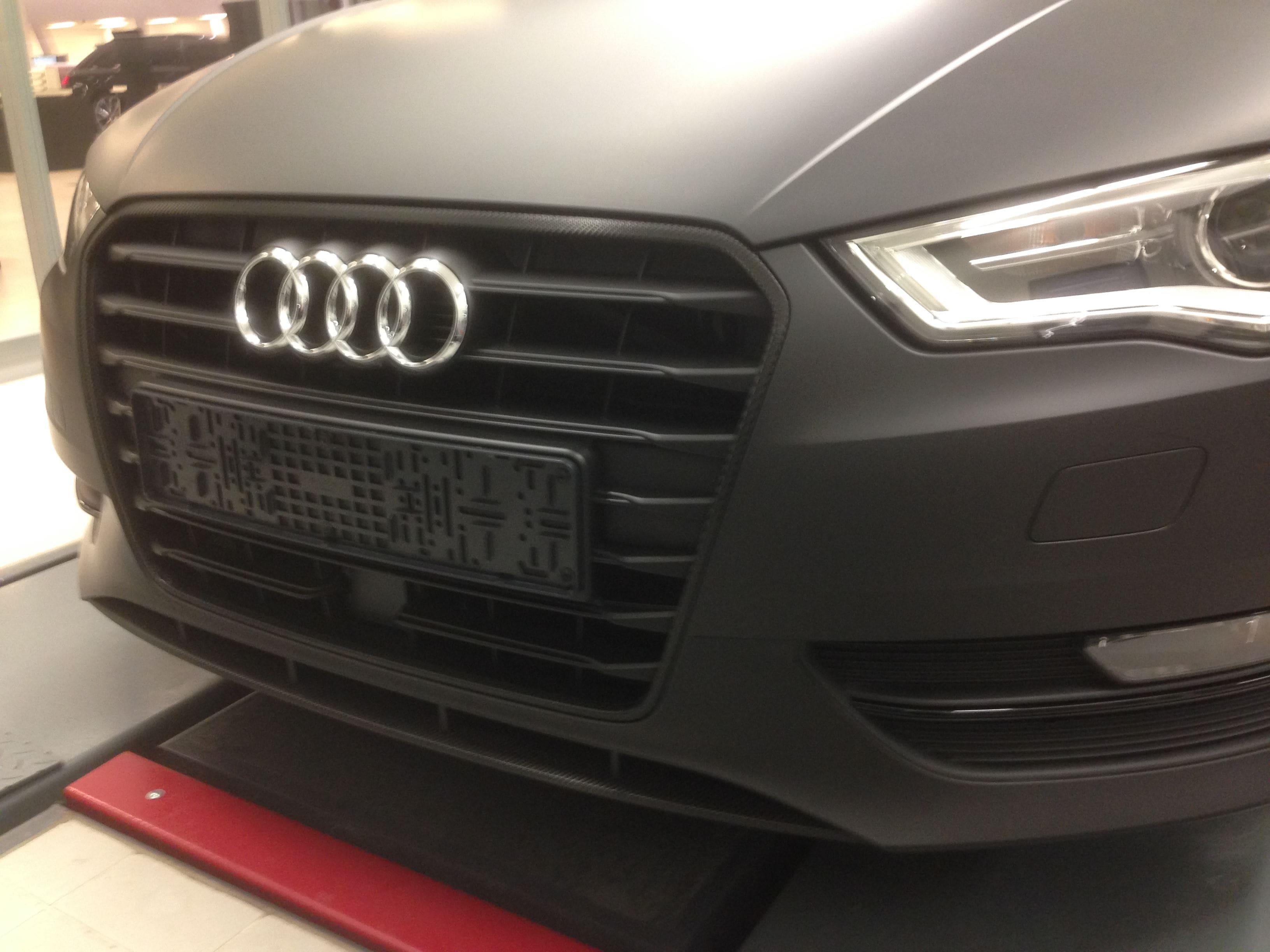 Audi A3 2014 met Mat Zwarte Wrap, Carwrapping door Wrapmyride.nu Foto-nr:4463, ©2021