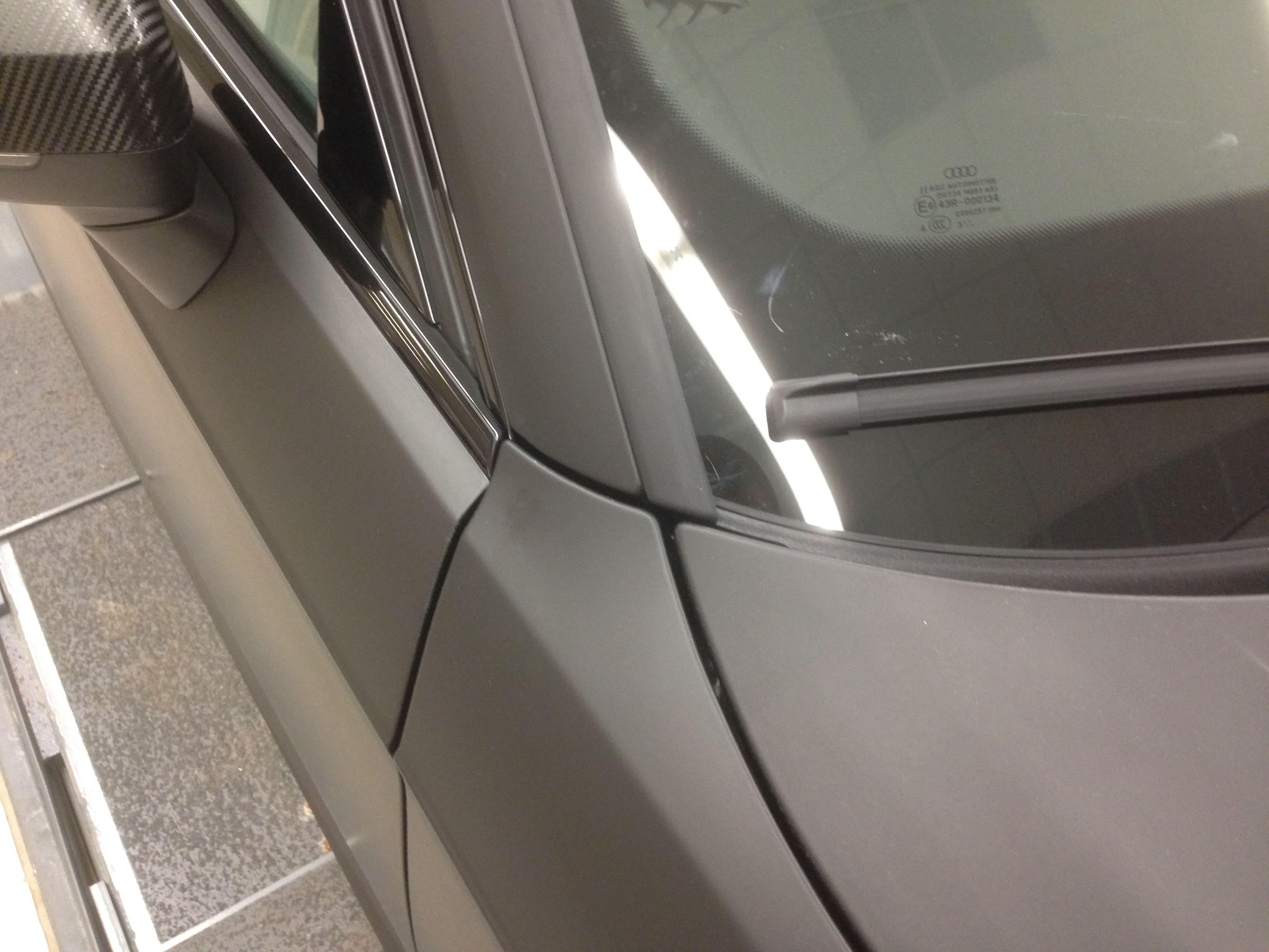Audi A3 2014 met Mat Zwarte Wrap, Carwrapping door Wrapmyride.nu Foto-nr:4467, ©2021