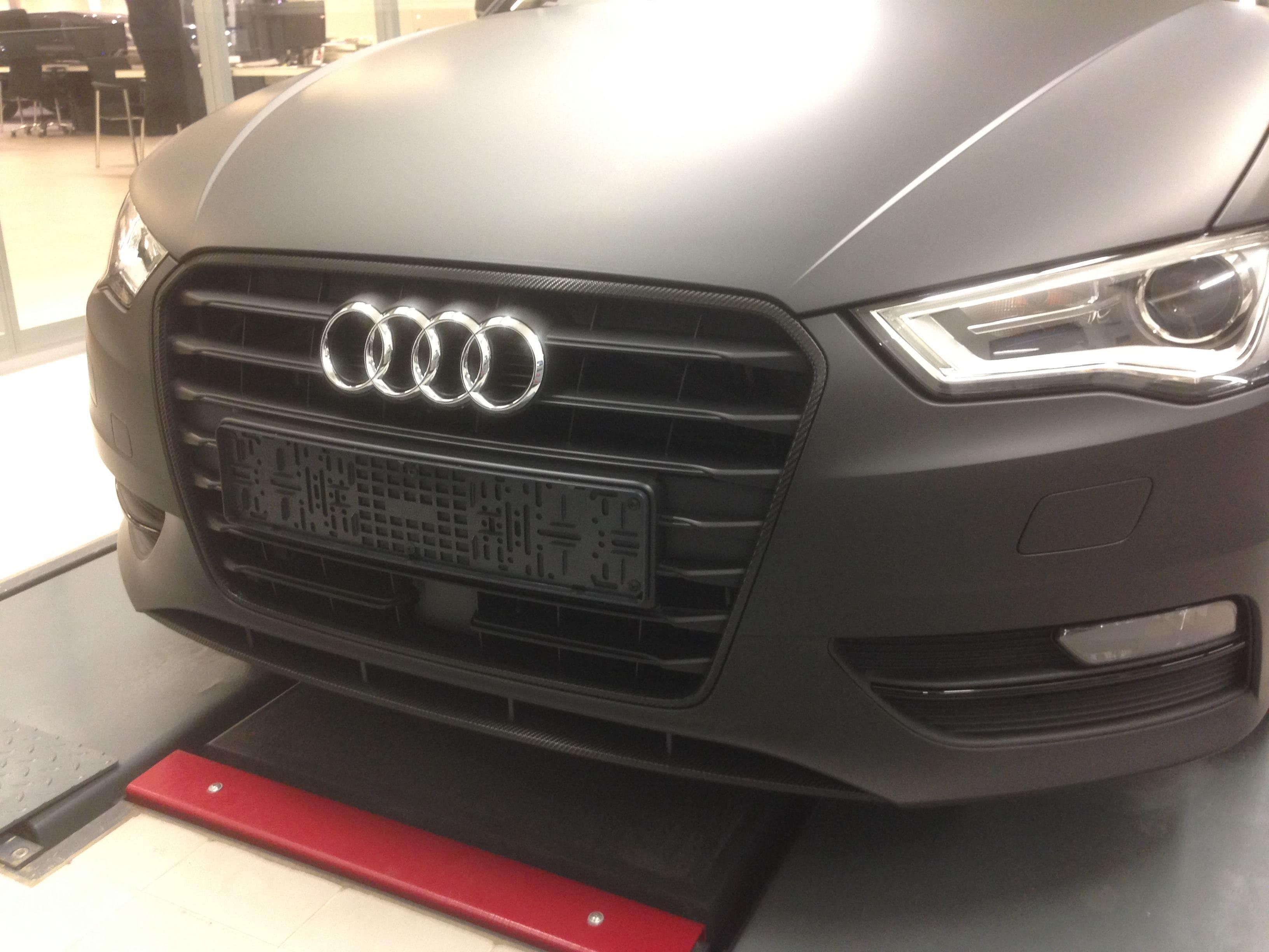 Audi A3 2014 met Mat Zwarte Wrap, Carwrapping door Wrapmyride.nu Foto-nr:4469, ©2021