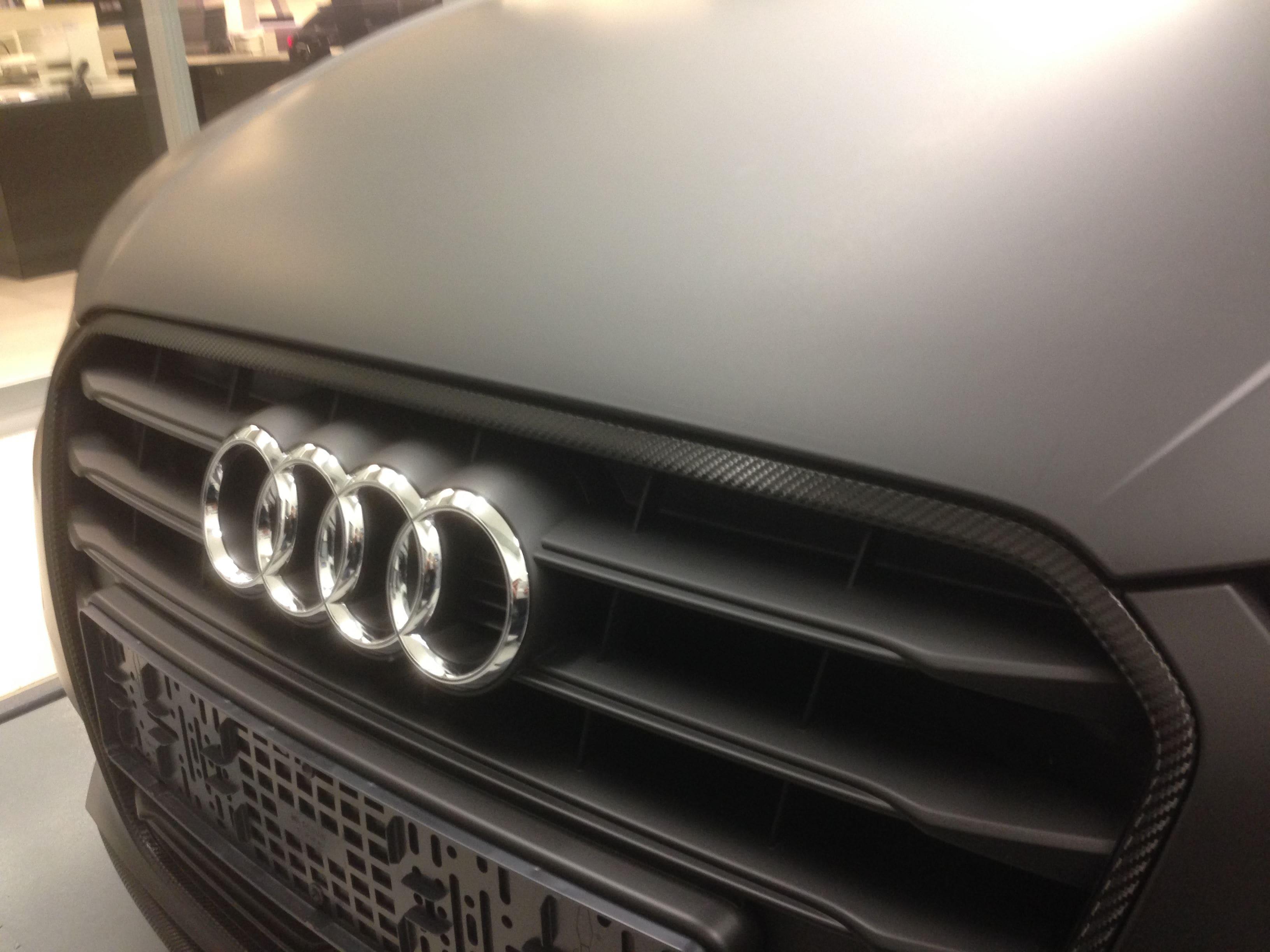 Audi A3 2014 met Mat Zwarte Wrap, Carwrapping door Wrapmyride.nu Foto-nr:4470, ©2021