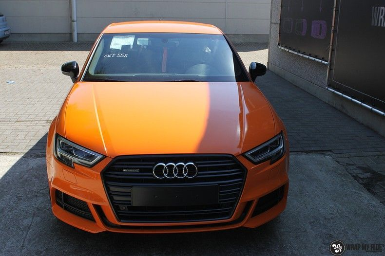 Audi A3 Gloss Burnt Orange, Carwrapping door Wrapmyride.nu Foto-nr:10883, ©2020