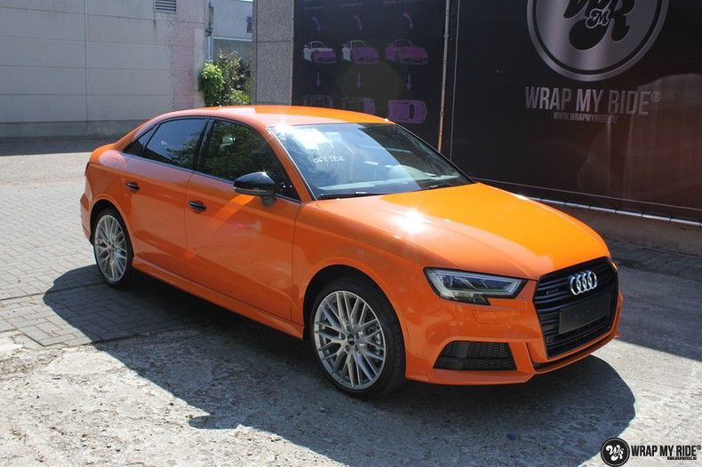 Audi A3 Gloss Burnt Orange, Carwrapping door Wrapmyride.nu Foto-nr:10882, ©2020