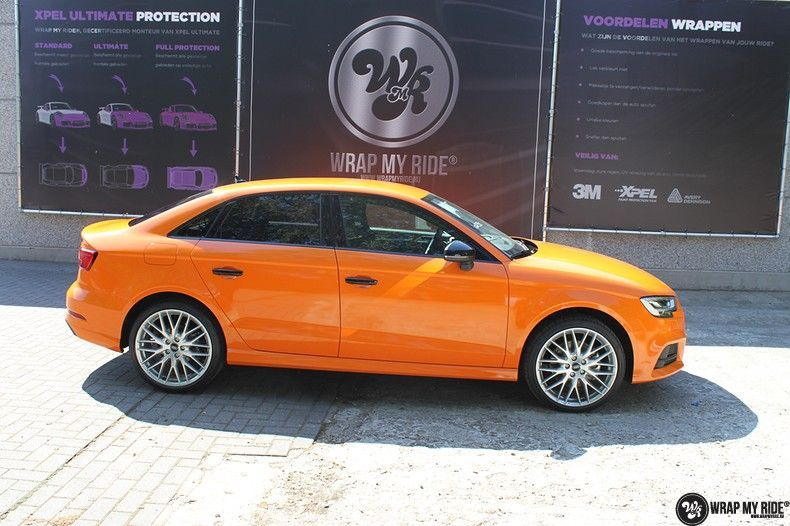 Audi A3 Gloss Burnt Orange, Carwrapping door Wrapmyride.nu Foto-nr:10881, ©2020