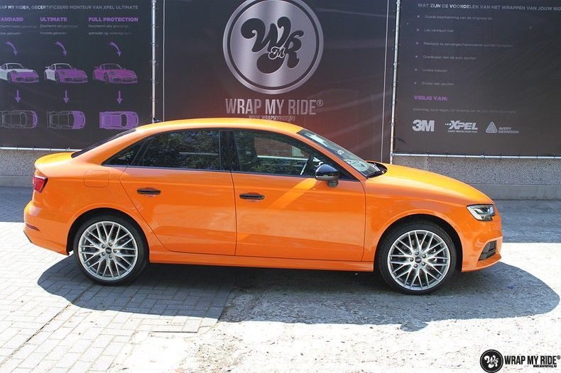 Audi A3 Gloss Burnt Orange, Carwrapping door Wrapmyride.nu Foto-nr:10880, ©2020
