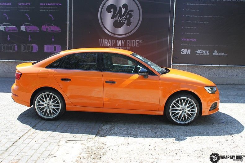Audi A3 Gloss Burnt Orange, Carwrapping door Wrapmyride.nu Foto-nr:10879, ©2020
