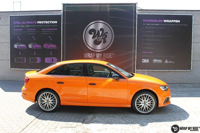 Audi A3 Gloss Burnt Orange, Carwrapping door Wrapmyride.nu Foto-nr:10878, ©2021
