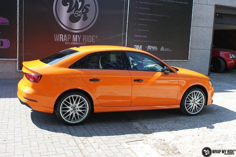 Audi A3 Gloss Burnt Orange, Carwrapping door Wrapmyride.nu Foto-nr:10877, ©2020
