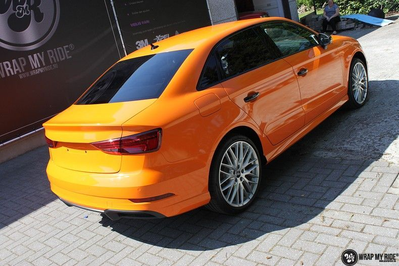 Audi A3 Gloss Burnt Orange, Carwrapping door Wrapmyride.nu Foto-nr:10876, ©2020