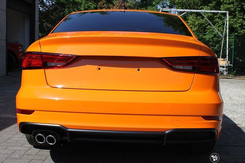 Audi A3 Gloss Burnt Orange, Carwrapping door Wrapmyride.nu Foto-nr:10875, ©2021
