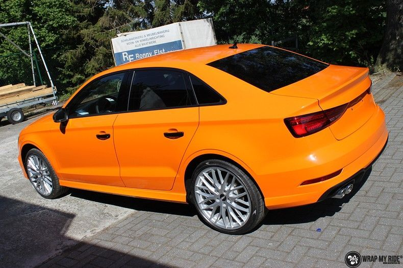Audi A3 Gloss Burnt Orange, Carwrapping door Wrapmyride.nu Foto-nr:10874, ©2020