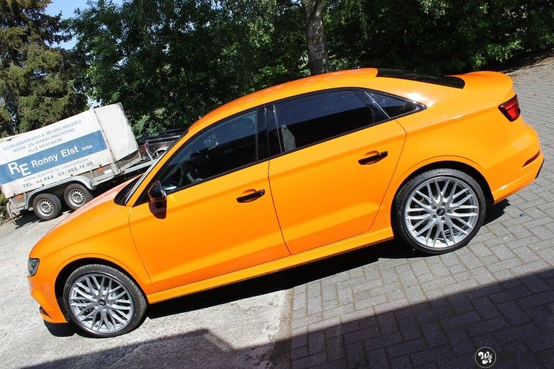 Audi A3 Gloss Burnt Orange, Carwrapping door Wrapmyride.nu Foto-nr:10873, ©2020