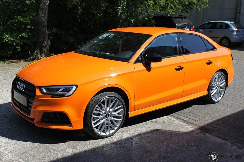 Audi A3 Gloss Burnt Orange, Carwrapping door Wrapmyride.nu Foto-nr:10872, ©2021